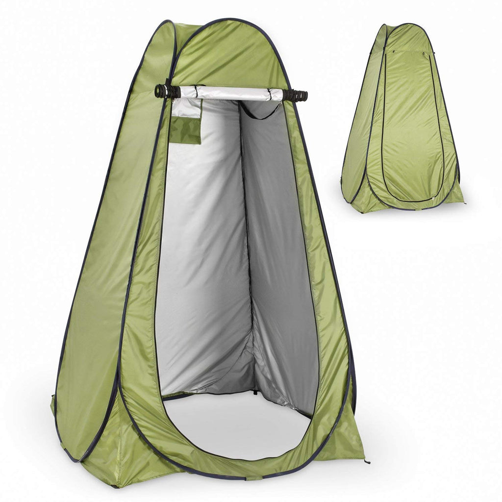 premium selection e7b3d 48387 Instant Pop Up Green Privacy Tent with Carrying Bag & Built ...