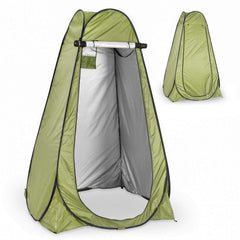 Instant Pop Up Green Privacy Tent with Carrying Bag & Built-In Storage Bag