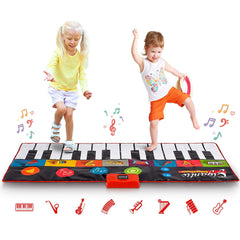 "Giant 70"" Piano Play Mat Jumbo Floor Keyboard 24 Keys 8 Sound Options"