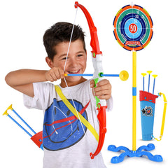 Toy Bow And Arrow For Kids Archery Set Target Stand Quiver Bow 3 Arrow Abco Tech It says that it is disabled from picking up arrows randomly, and i cant seem to find a. toy bow and arrow for kids archery set