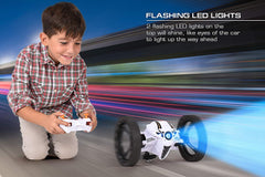 Remote Control Bounce Car - 2.4GHz - RC Jumping Car 360 Degree Rotation (White)