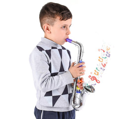 Kids Musical Toy Saxophone – 8 Color Coded Keys & Printed Instructions for Songs