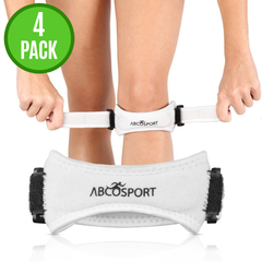 4-Pack Patella Stabilizer Knee Strap Brace Support for Knee Pain Relief