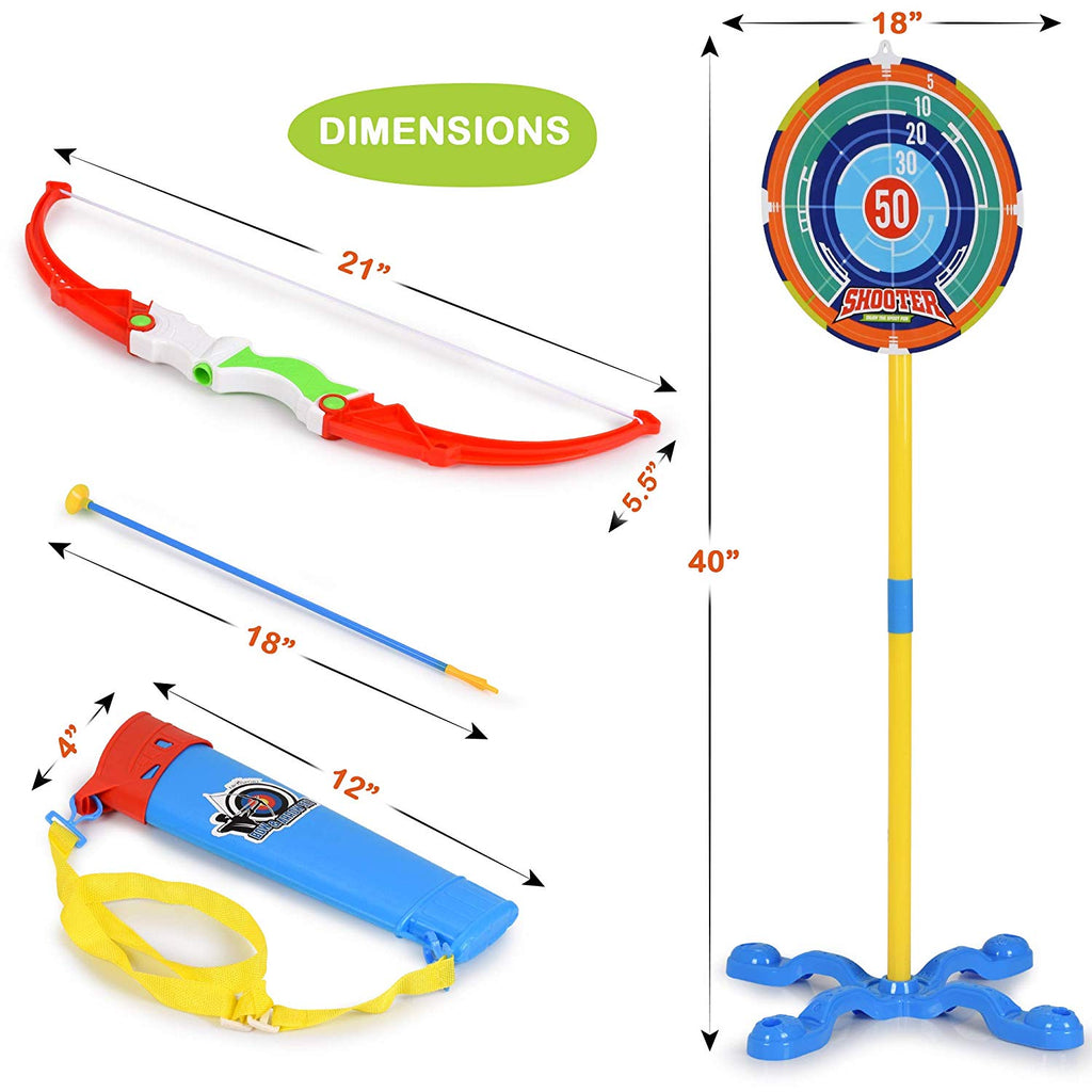 Toy Bow and Arrow for Kids Archery Set Target Stand Quiver Bow 3 Arrow