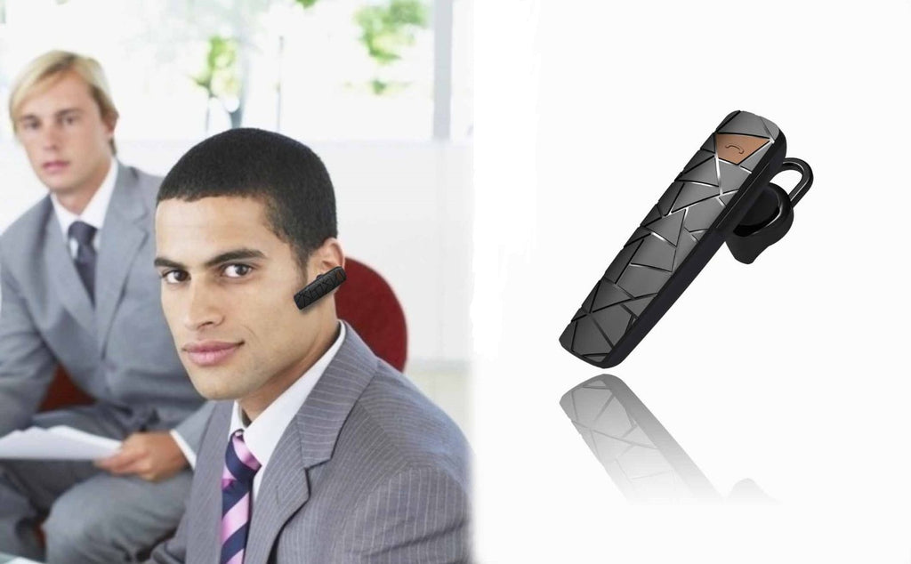 Abco Tech Bluetooth Headset/Headphone with Charging Dock and Microphone for iPhone 4 / 4S / 5 / 5S / 5C / 6
