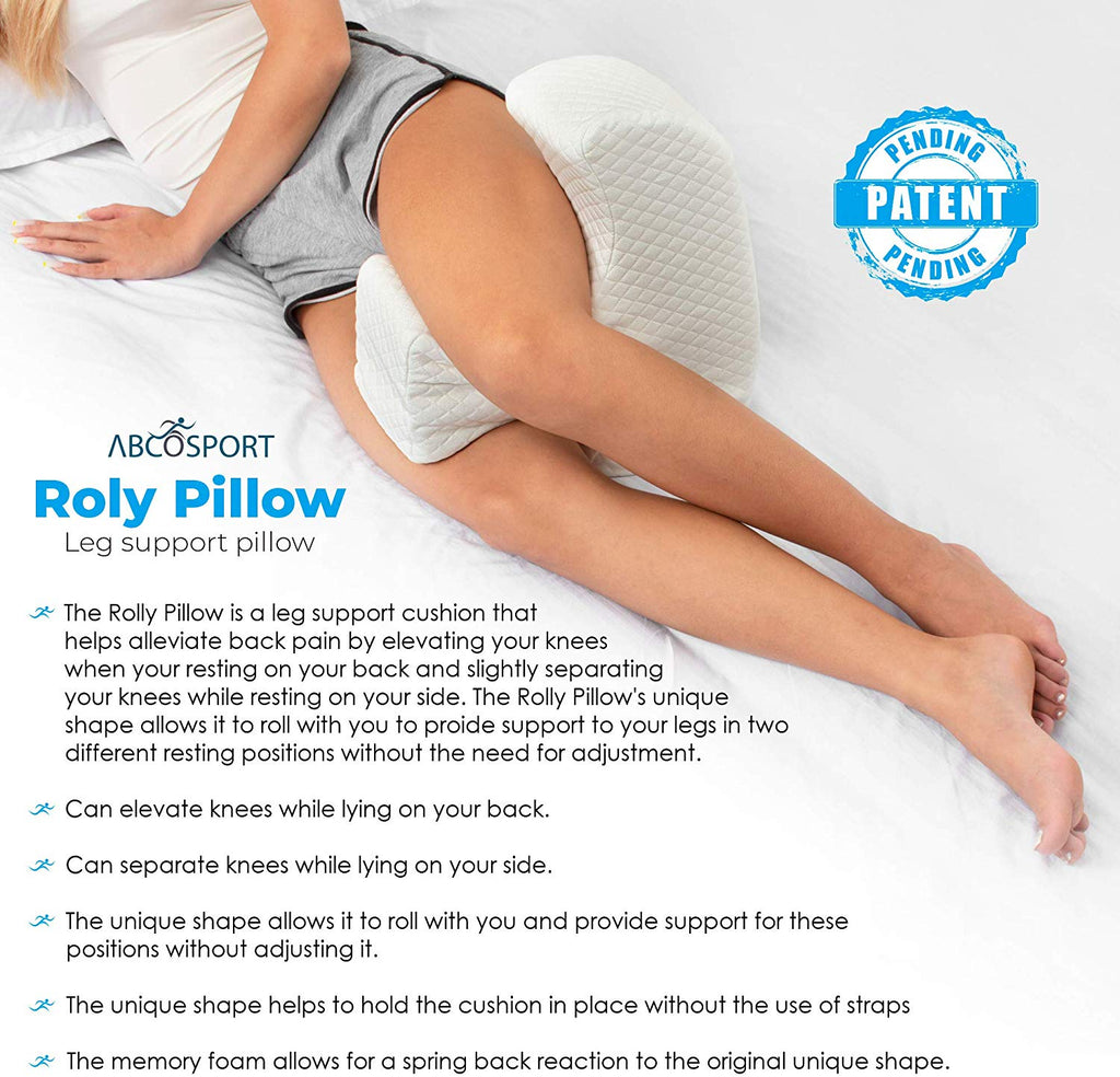 Abco Tech Leg Support Memory Foam Pillow Knee and Half Moon Pillow Combined