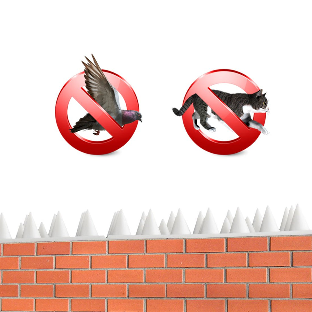 Bird Spikes - Set of 10 x 48.8 cm Anti-Climbing Security for Your Fence, Walls & Railings