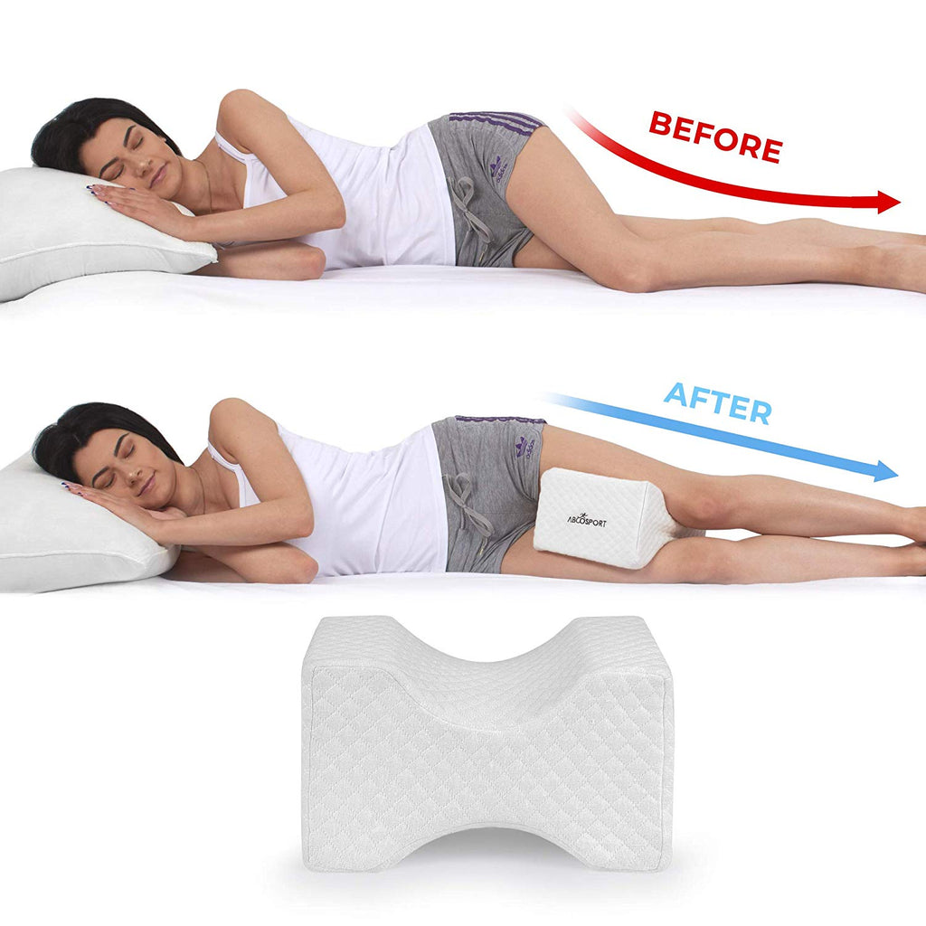 Memory Foam Knee Pillow with Cooling Gel Leg Pillow Wedge With Cover