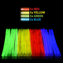 "Glow Sticks Emoji Bracelets – Pack of 20 Neon 8"" Glowsticks Wristbands, 10 Different Emojis"