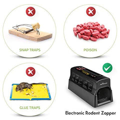 Electronic Humane Rodent Zapper - Effective Mouse Trap Killer for Rats, Mice, Squirrels & Chipmunks