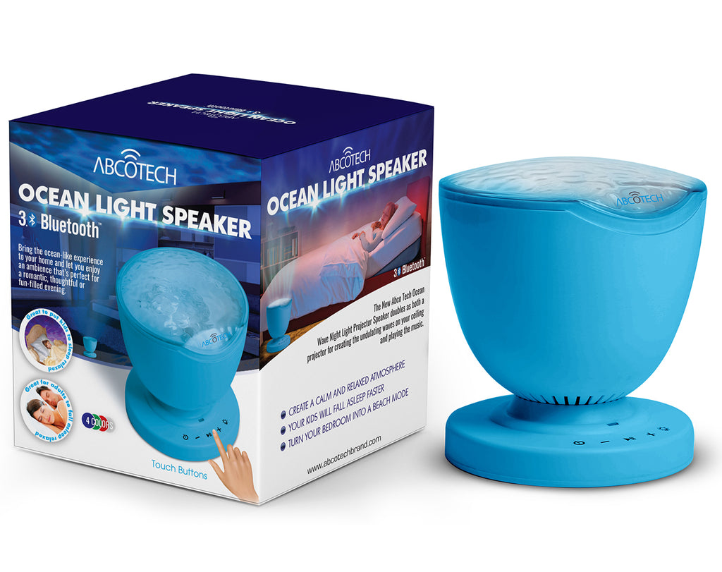 Ocean Waves Night Light Projector with Built-in Bluetooth Speaker
