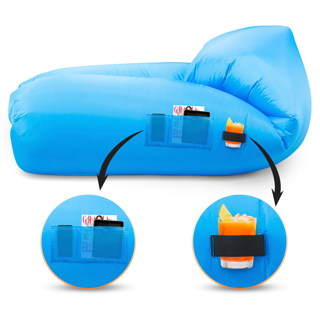Inflatable Air Sofa Chair - Portable Lounger Couch & Air Hammock