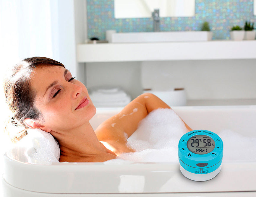 Abco Tech Shower Speaker with LCD and Humidity control