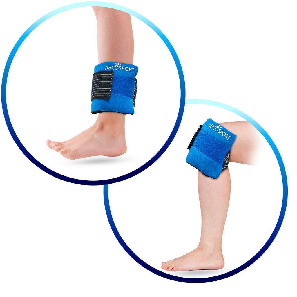 Flexible Gel Ice Pack & Wrap for Hot and Cold Compression Therapy