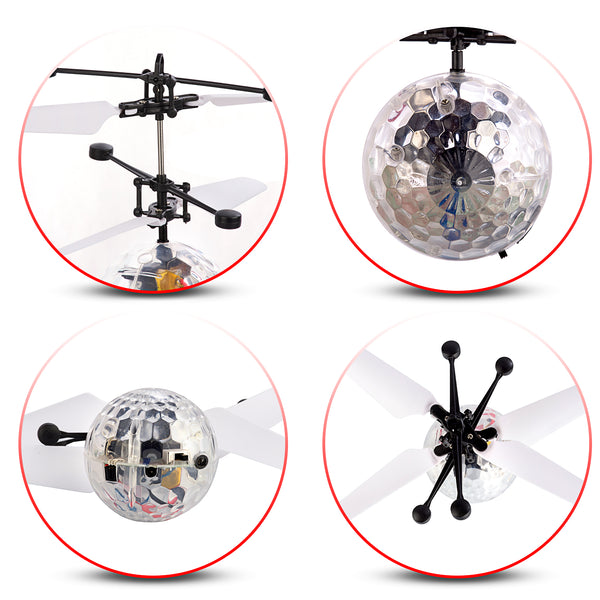 Rc Flying Ball Rc Helicopter Kids Toy Dazzling Led