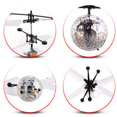 RC Flying Ball, RC Helicopter Kids Toy - Dazzling LED Lights - With Remote Control For Boys & Girls