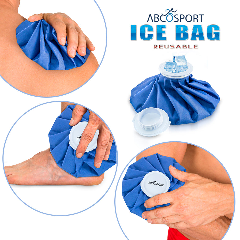 Ice Bag Packs - Set of 3 Hot & Cold Reusable Ice Bags Size 6, 9 and 11 inch - No Leaks, No Drips