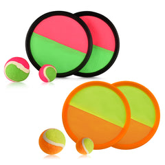 Velcro Paddle Ball Catch Set - Equally Suitable Game for Kids & Adults, Outdoor or Indoor