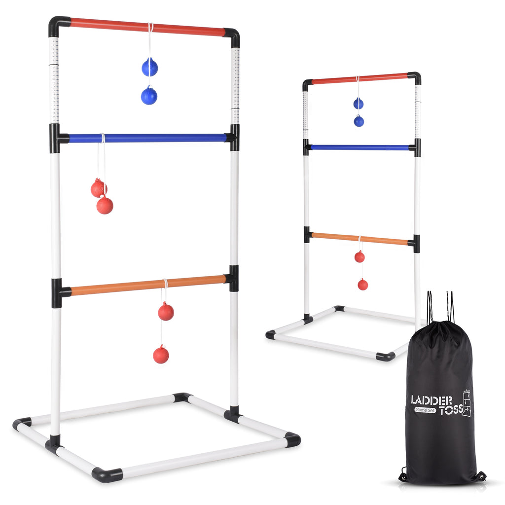 Ladder Toss Ball Game Set - Ideal for Indoor/Outdoor Game - With Backpack Bag – Easy Setup – 2-4 Player