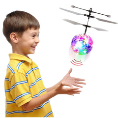 RC Flying Ball, Helicopter Kids Toy - Dazzling LED Lights With Remote Control