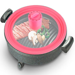 Basily Silicone Pot Lid with Cover-Mount Timer, 10
