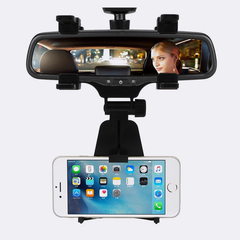Universal Rearview Mirror Car Phone Mount