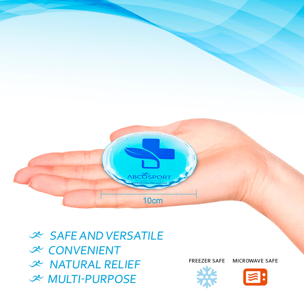 Reusable 5-Pack Gel Ice Pads – Ideal for Cold or Hot Therapy