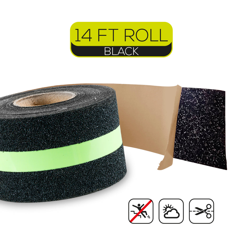 "Glow in the Dark Anti-Slip Grip Tape- 2"" Wide and 14' Long Roll"