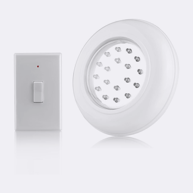 LED Wireless Cordless Ceiling Wall Light with Remote Control Switch