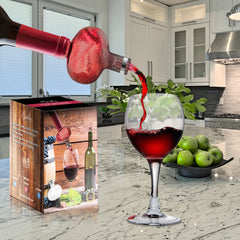 Wine Aerator - Deluxe Decanter Bottle Pourer Dispenser Spout Set