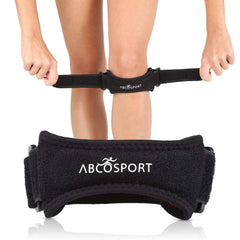 Abco Tech Patella Knee Strap - Knee Pain Relief - Tendon and Knee Support for Running, Hiking, Soccer, Basketball, Volleyball and Exercise