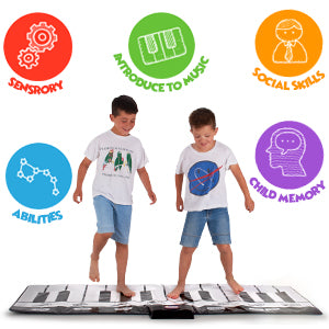 Giant Musical Piano Play Mat Jumbo Floor Keyboard 8 Sounds 70 Inches