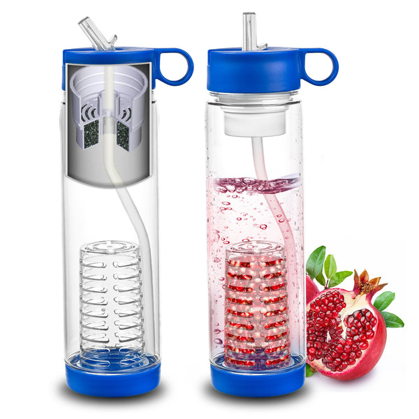Basily Filter Water Bottle Fruit Infuser Abco Tech