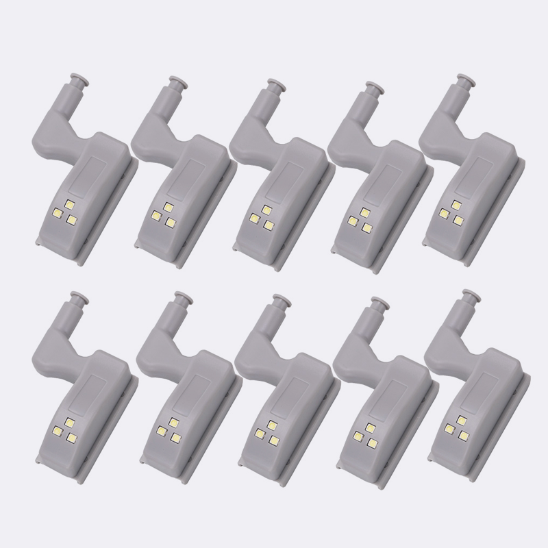 10-PACK - Cupboard Inner Hinge LED Lights for Kitchen / Bedroom