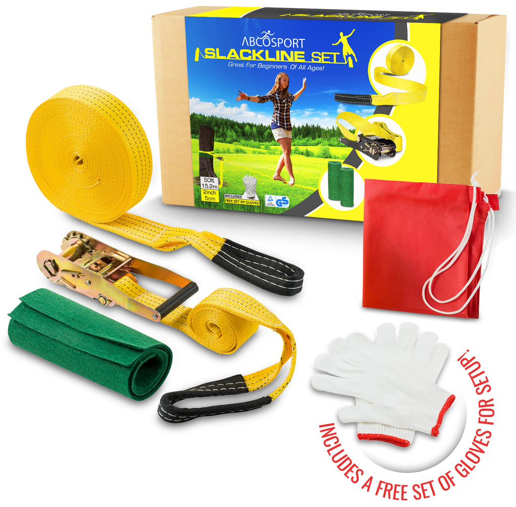 Slackline Kit For Full Body Workout