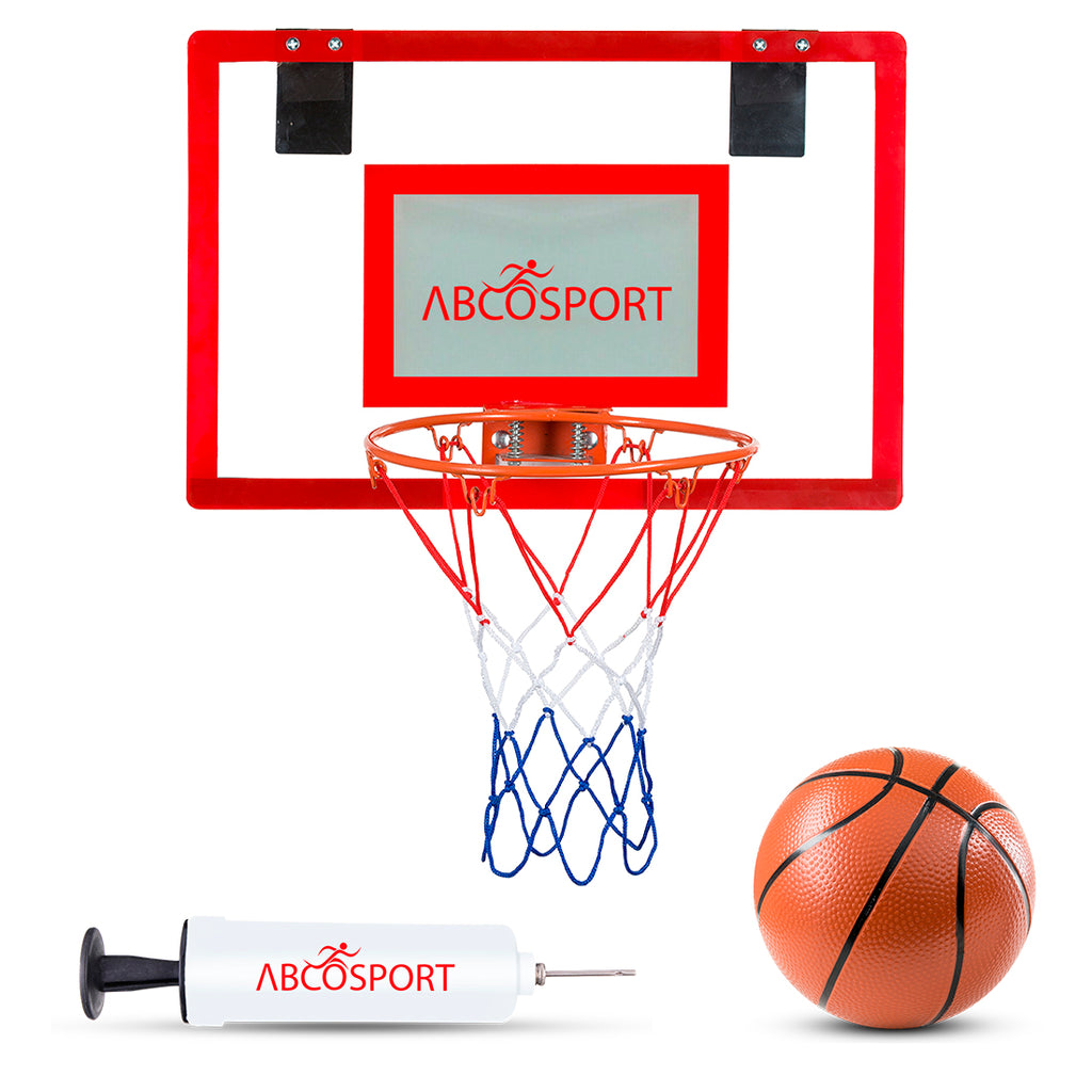 Mini Basketball Hoop For Home or Office - Hangs on Any Door - Includes A Pro-Mini Basketball and Air Pump