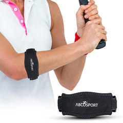 Elbow Strap - Pain Relief for Tendonitis & Forearm with Compression Pad - Adjustable Velcro Straps in 2 Sizes