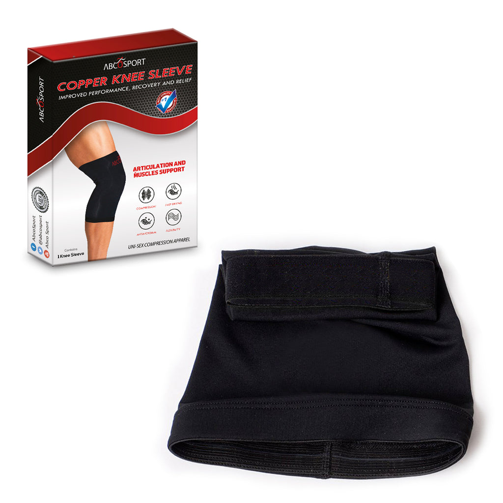 Knee Compression Sleeve Support - Reduces swelling & inflammation