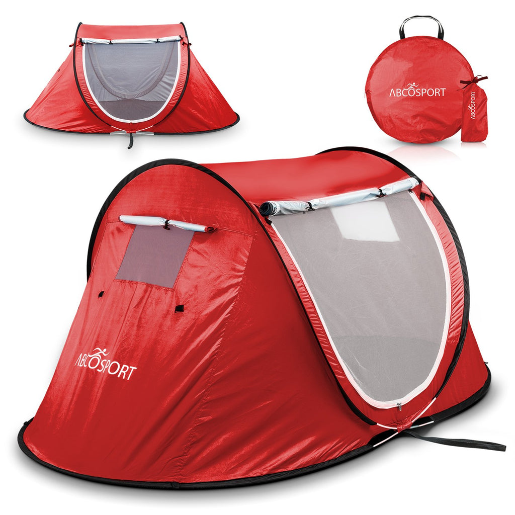 Pop-up Tent Instant Portable Cabana Beach Pop Up Tent For 2 Red