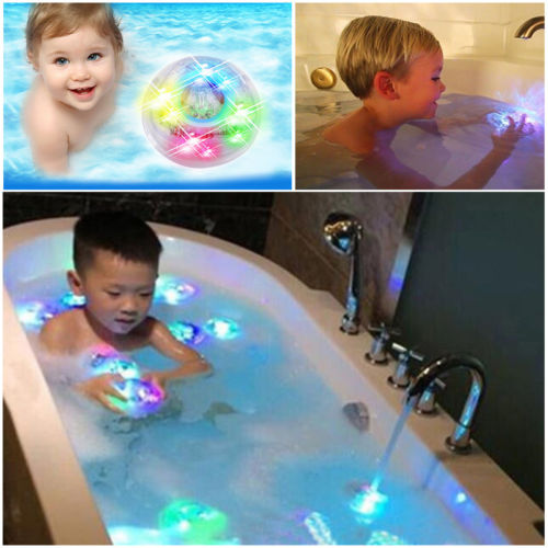 Colorful Bathroom LED Light Bath Toy