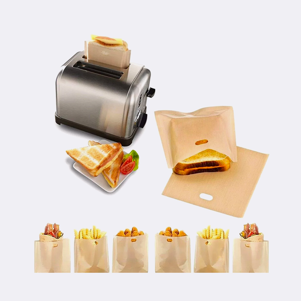 4 pc Grilled Cheese Sandwich Bags Non-Stick Reusable Clean and Easy