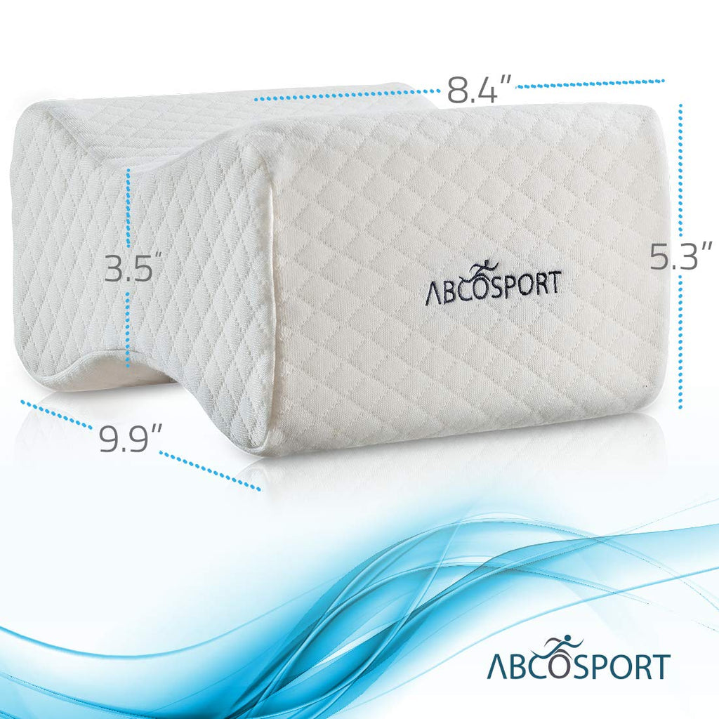 Abco Tech Memory Foam Knee Pillow with Washable Cover & Storage Bag