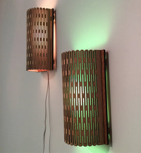 Wooden Sconce- Laser Cut - LED