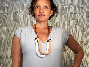 Rope Disc Midi Necklace
