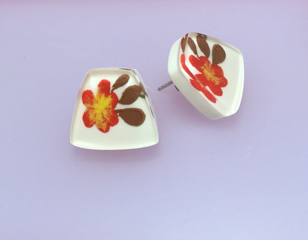 Spring Polyresin Post Earrings