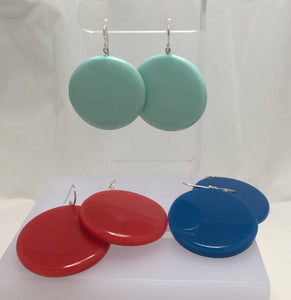Disc Polyresin Earrings