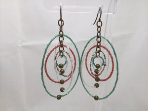 Beaded Orbit Earrings