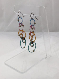 Small hanging circles Earrings