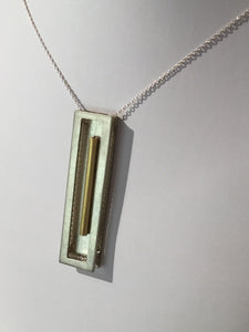 Nickel Brass and Silver Necklace