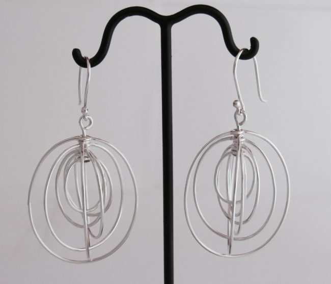 Spinning Oval Earrings